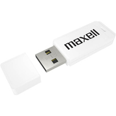 Flash Disc Maxel - bílá / 16 GB